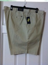 POLO RALPH LAUREN BIG & TALL MENS NEW KHAKI 100%COTTON CASUAL SHORTS SIZ... - $70.13