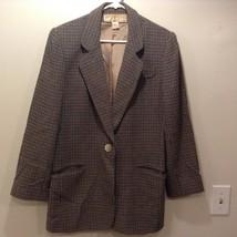 Doncaster Ladies Plaid Button Up Blazer Sz 12