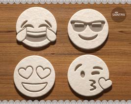 Face Emoji. Cookie Cutters. 4 Shapes Set. Smiling Face Emotion. 3D Print... - $6.99+