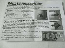 Walters Mainline Stock #910-200 Passenger Car Exterior Detailing Kit HO Scale image 4