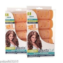 Lot 1/2/ 3 Conair Adjusta Curl Root Volumizer Adjustable Self Grip Hair Rollers - $7.51+