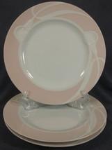Mikasa Classic Flair Peach LDB01 Dinner Plates Lot of 3 White Calla Lilies - $74.95