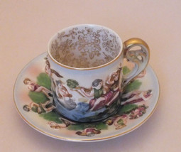 S.G.K. Hand Painted Occupied Japan Demitasse Tea Cup & Saucer With Gold ... - $39.99