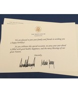 TRUMP WHITE HOUSE BIRTHDAY CARD SIGNATURE DONALD  GOLD EAGLE SEAL HAPPY ... - $41.12
