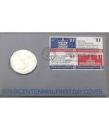 1974 Bicentennial Primer Día Cubierta Medallón ~Revolution~ John Adams - $14.41