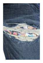 Flip The Script Japan Eroticism Naked Ladies Playing Cards Indigo Denim Jeans NW image 6