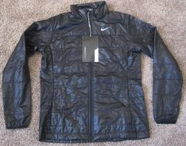 Nike Women's Black Filled Thermal Puffer Golf Coat Jacket SZ M MD 845072... - $73.85