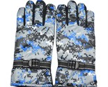 Full Finger Cycling Motorcycle Gloves Mountain Bike Camouflage Navy Men Free Siz