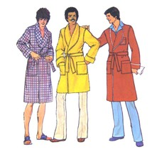 1970s Vintage Simplicity Sewing Pattern 7080 Mens Easy Bath Robe Medium ... - $6.95