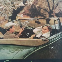 1934 Saturday Evening Post Chevrolet Print Ad Green Convertable Spring - $15.75