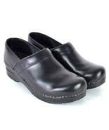 Sanita Black Leather Oxford Lace Up Nursing Clog Shoes Occupational 39 8... - $38.60