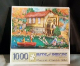 """Bits and Pieces 1000 piece puzzle - """"Autumn Gristmill"""" NEW-SEALED - $18.69"""