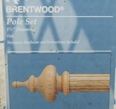 Kirsch Brentwood 5644086 Pole Set With Hardware 38 To 66 Inches image 5