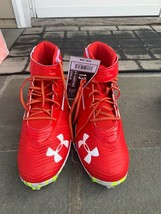 Men's Under Armour Harper 3 Mid Rm Baseball Cleats Red Size 13 NWT No Box - $79.19