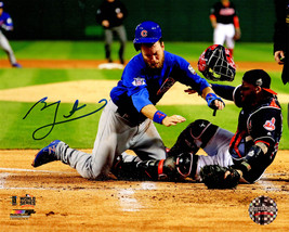 BEN ZOBRIST Signed Cubs 2016 World Series Home Plate Collision 8x10 Phot... - $147.51