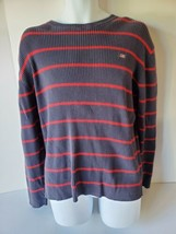 Polo Jeans Company Ralph Lauren Mens Blue Red Stripe Sweater XXL - $24.74