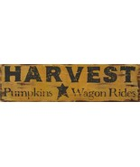 HARVEST, Pumpkins, Wagon Rides wood Sign - $18.99