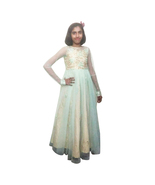 Tulle and Sequin BLUE and GOLDEN Color Gown for girls - $63.99+