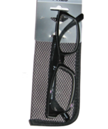 Foster Grant Jameson Mens Womens Black Modern Reading Glasses w/ Case 1.50 - $24.74