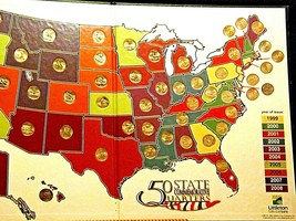 50 State Quarters Collector's Map and Coins AA19-CN19Q6022 image 2