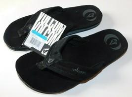 Volcom Jigsaw Creedlers Black Flip Flops Size 9 Brand New - $43.84 CAD