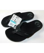Volcom Jigsaw Creedlers Black Flip Flops Size 9 Brand New - €29,69 EUR