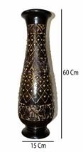Brass Decoration Flower Vase Wooden Flower Pot For Home Decorative 60 Cm... - $102.10