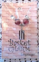 Longaberger Basket Tie On Americana Flag Charm Red Beads New In Pack - $13.95