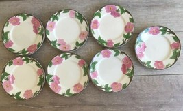 "Franciscan Desert Rose Pattern Salad Plates 8"" New Backstamp Lot 7 Repla... - $49.49"