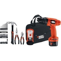 Black and Decker 9.6V Cordless Drill 46Pc Starter Kit - $46.74
