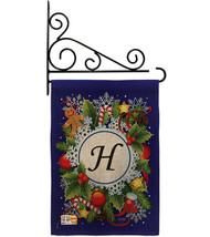 Winter H Initial Burlap - Impressions Decorative Metal Fansy Wall Bracket Garden - $33.97