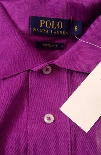Ralph Lauren Mens Bright Purple Polo Shirt Custom Fit Size Small
