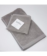 Sofillo Combed Long-Staple Cotton Hand Towel and Wash Cloth Set, Color: ... - $19.99