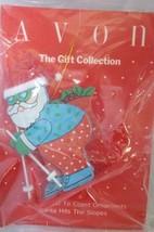 Avon Gift Collection Santa Coast to Coast Hits The Ski Slope Wood Ornament - $3.00