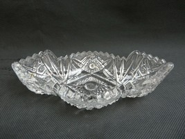Vintage Imperial Glass USA crystal clear dish bowl Mid Century Deco - $18.00