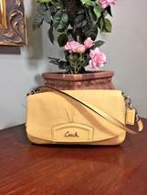 New Coach Large Flap Leather Wristlet Wallet Purse Z52168 Carney Yellow ... - $67.72