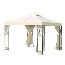 2-Tier 10' x 10'  Patio Steel Gazebo Canopy Shelter-Beige - $220.07