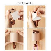 hebensi 4Pcs Adhesive Hooks Cute Cartoon Squirrel Wall Hooks for Kid's Room Livi image 6