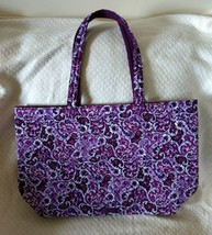 NWT Vera Bradley Iconic Grand Tote in Lilac Paisley Quilted Cotton #1904... - $64.00