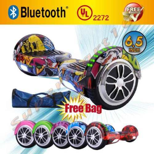 Flame Bluetooth Hoverboard LED's Two Wheel Balance Scooter UL2272