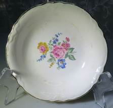 "VINTAGE PORCELAIN SMALL BOWL OR ASHTRAY NO MARK ROSES AND FLOWERS 5""   - $15.00"
