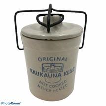 Vintage Kaukauna Klub Sharp Cheddar Crock with Lid, Seal and Bale/Latch   - $9.85
