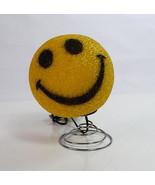 Retro Yellow Smiley Happy Face Popcorn Bobble Head Bouncy Desk Table Lam... - $34.64