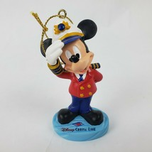 Disney Cruise Line Captain Mickey Mouse Christmas Tree Ornament Holiday  - $37.49