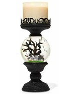 2021 Bath and Body Works Water Globe Cemetery Pedestal 3 wick candle holder - $105.19