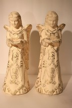 Home & Garden Party Handcrafted Painted Terra Cotta Angel Sculptures 15 ... - $38.00