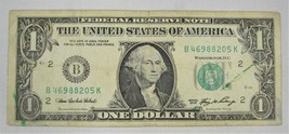 2006 $1 Federal Reserve Note Excess Ink Error VG/FINE PC-126 - $23.15