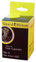 Guardhouse American Silver Eagle 40.6mm Direct Fit Coin Capsules, 10 pack - $7.99