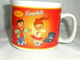 Campbell Kids 100 Years Soup Mug Bowl 2003 Kid American Flag Kids Sock Hopping - $9.89