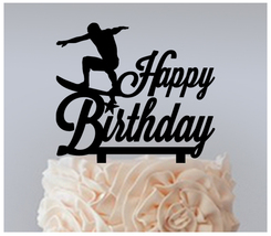 Birthday Cake topper,Cupcake topper,silhouette surfing board Package : 11 pcs - $20.00